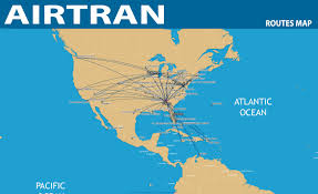 Delta Airlines Route Map by International Flights Airtran Airways Route Map
