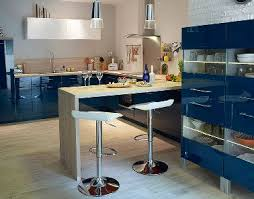 meuble cuisine bleu pour cuisine ouverte castorama