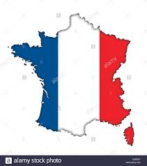 Map Icon French Flag Banner Map Icon Logo Of France Stock Photo Royalty