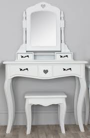Small White Desk With Drawers by Vintage Small White Vanity Desk With Mirror And Black Drawer