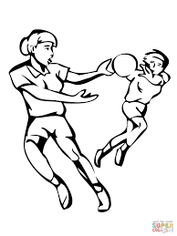 16 handball coloring pages for kids print color craft