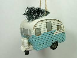 new blue vintage style outdoor cing trailer cer