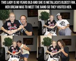 Metallica Meme - metallica meetin their oldest fan meme guy