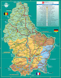 Travel Map Of Europe by Maps Of Luxembourg Detailed Map Of Luxembourg In English