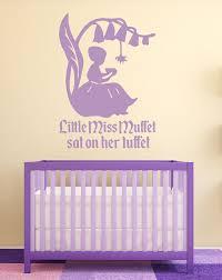 nursery rhyme wall decals little miss muffett nursery wall