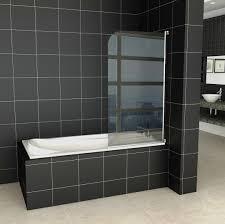 black bathtub made of concrete material varnished wooden bathroom