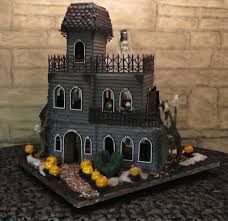 edible haunted house cakes ghoulish gingerbread haunted house