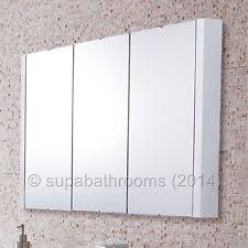 3 Door Mirrored Bathroom Cabinet 900mm Gloss White 3 Door Mirror Bathroom Cabinet Wall Mounted
