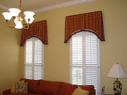 Curtain Box Valance Box Pleated Tapered Valances With Plantation Shutters