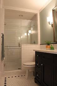 bath shower ideas small bathrooms bathroom shower yellow tiny floor traditional spaces glass and