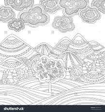 free printable coloring pages for adults landscapes printable coloring page adults mountain landscape à à à à à à à