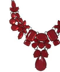 red fashion necklace images Poppy red statement necklace rickis jpg