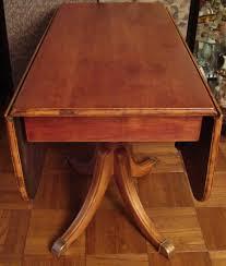 Drop Leaf Pedestal Table Drop Leaf Dining Table With Pedestal Base Antique Appraisal
