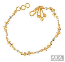 ladies bracelet with images Ladies bracelet in 22k gold asbr52210 22k gold two tone ladies jpg