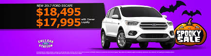 Ford Escape Msrp - all new ford specials in college station texas college station ford