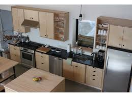 birch veneer kitchen cabinet doors plywood cabinet fronts cut out handles stain and wax plywood to