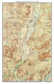 Southampton New York Map by Schroon Lake 1900 Usgs Old Topographic Map Custom Composite