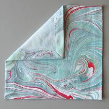 Mixed Patterns by Set Of Six Marbled Cocktail Napkins In Mixed Patterns Natalie Stopka