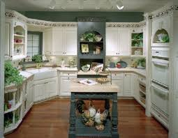 luxury white cabinet and antique green island for classic kitchen
