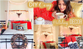 diy cozy holiday room decor u0026 christmas youtube