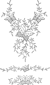 clipart ornamental butterflies and flowers