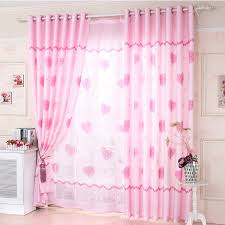 Pink Girl Curtains Bedroom | girls bedroom heart shaped eco friendly dusty pink curtains