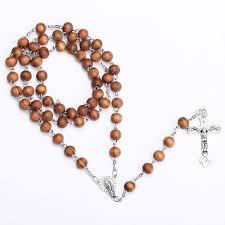 beads cross necklace images Rosary wood beads jesus cross necklace jesusgiftshop jpg
