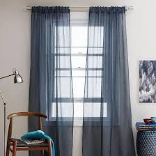 Blue Sheer Curtain Slate Blue Sheer Curtains Decor Mellanie Design