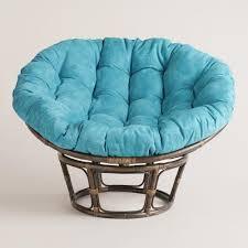 Rattan Swivel Rocker Cushions Furniture Popular Chair Artistic Furry Papasan Chair Cushion