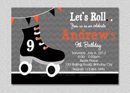 roller skating birthday invitations roller skating birthday