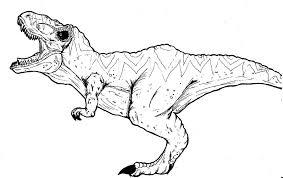 printable jurassic park rex coloring pages 7006 jurassic park