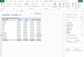 How To Create Pivot Tables In Excel Microsoft Excel 2016 Pivot Tables Excel Consultant