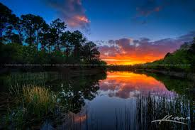 Florida lakes images Sunset florida lake in palm beach county jpg