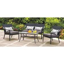 Patio Conversation Sets Sale by Amazon Com Mainstays Alexandra Square 4 Piece Patio Conversation