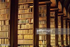 Bookshelves Library Ireland Dublin Trinity College Bookshelves In Old Library Stock