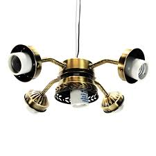 ceiling fan light kit straight arm 5 lamp with pull switch antique