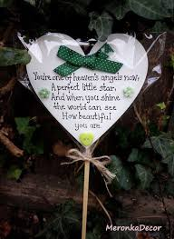 memorial green baby funeral verse child grave ornament