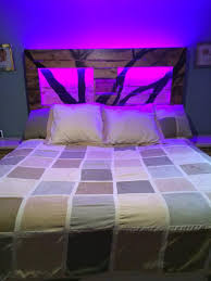 diy headboard with led lights headboard led lights pertaining to diy king size pallet 101 pallets