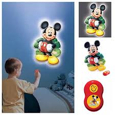 disney mickey mouse clubhouse talking wall night light remote