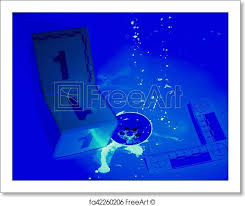 Uv Light Bathroom Free Print Of Developing Of Blood Stains And Footprints With