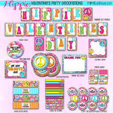 Valentine S Day Flags Hippie Valentine U0027s Day Party Printable Collection Mimi U0027s Dollhouse