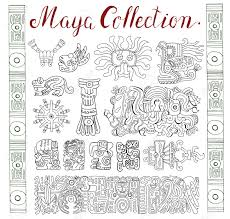 vintage collection with graphic inca and aztec zodiac