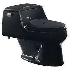 Kohler Comfort Height Round Toilet Shop Kohler San Raphael Black 1 6 Gpf 6 06 Lpf 12 In Rough In