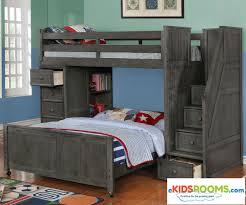 Bedroom With Furniture Multifunction Loft Bed In Driftwood Gray Allen House Kids Loft