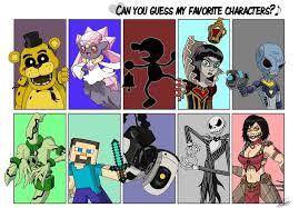 Favorite Character Meme - favorite character meme favourites by cjh48 on deviantart