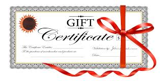 gift certificat template template for a bill of sale