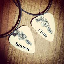 Buck And Doe Couples Necklace Her Buck His Doe Guitar Pick Matching Necklaces For Couples