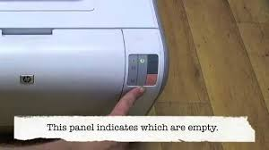 hp color laserjet cp1215 changing the cartridges youtube