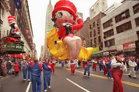 betty boop big balloon during macy s thanksgiving day parade
