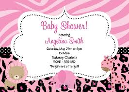 pink safari baby shower invitations reduxsquad